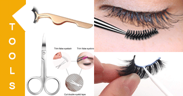 Tools and products for lashes