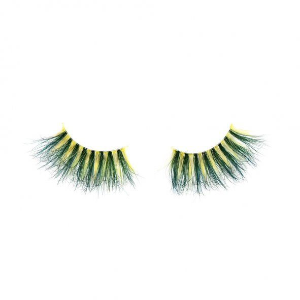 colored eyelashes, 25mm lashes